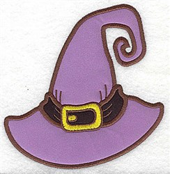 Witchs Hat Double Applique embroidery design
