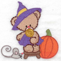 Witch Bear & Mouse embroidery design