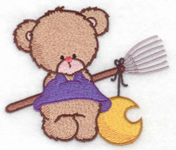 Bear With Broom embroidery design