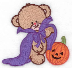 Dracula Bear embroidery design