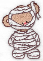 Mummy Bear embroidery design