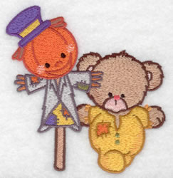 Bear & Scarecrow embroidery design
