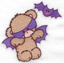 Bat Bear & Bat embroidery design