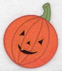 Jack-o-lantern embroidery design