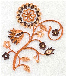 Flower Stem embroidery design