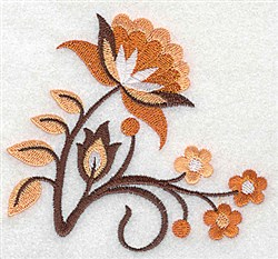 Jacobean Blooms embroidery design