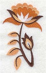 Jacobean Stem embroidery design