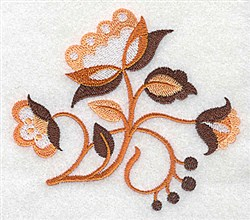Jacobean Bouquet embroidery design