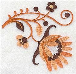 Swirly Jacobean embroidery design