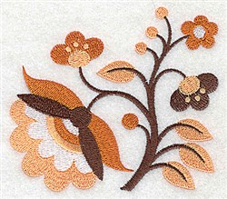 Stem Of Blooms embroidery design