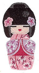 Kokeshi embroidery design