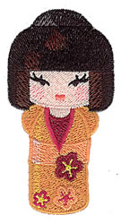Japanese Kokeshi Doll embroidery design
