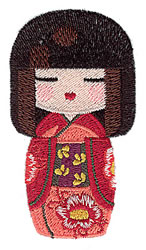 Kokeshi Doll embroidery design