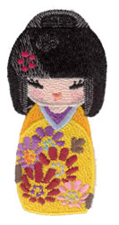 Kokeshi Doll Toy embroidery design