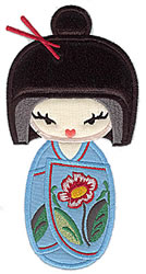 Kokeshi Doll Appliques embroidery design