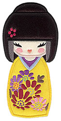 Kokeshi Doll Applique embroidery design