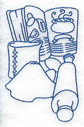 Baking Tools & Recipe embroidery design