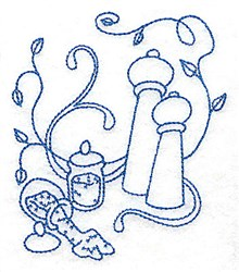 Salt And Pepper Shakers embroidery design