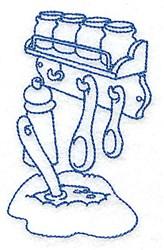 Kitchen Spice Rack embroidery design