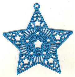 FSL Star Ornament embroidery design