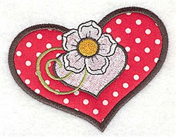 Flower In Heart embroidery design