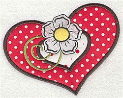 Applique Double Heart embroidery design