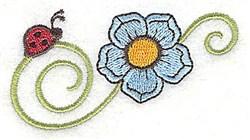 Ladybug & Flower embroidery design