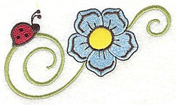 Ladybug Floral embroidery design