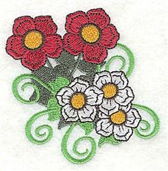 Flowers & Swirls embroidery design