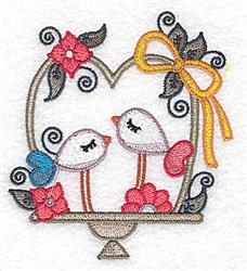 Love Bird Pair embroidery design