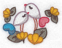 Birds And Flowers embroidery design