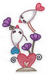 St Valentine Birds embroidery design