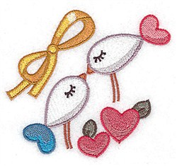 Birds And Bow embroidery design