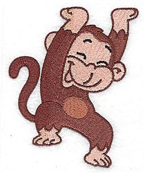 Happy Monkey embroidery design