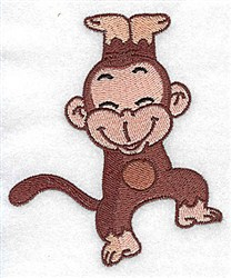 Jumping Monkey embroidery design
