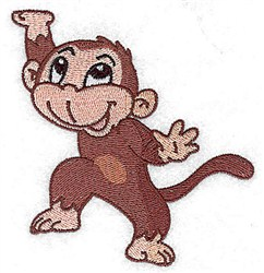 Dancing Monkey embroidery design