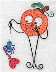 Mr. Pumpkinhead embroidery design