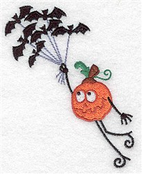 Flying Pumpkinhead embroidery design