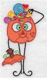 Candy Pumpkinhead embroidery design