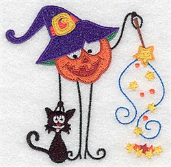 Silly Pumpkinhead embroidery design