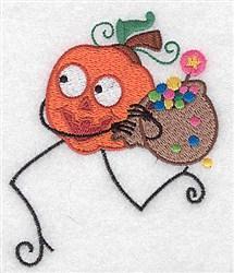 Pupmkinhead Running embroidery design