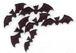 Bats embroidery design