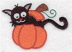 Cat in Pumpkin embroidery design