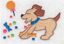 Dog With Candy embroidery design