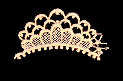 Lace Crown embroidery design
