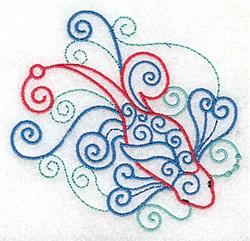 Swirly Koi embroidery design