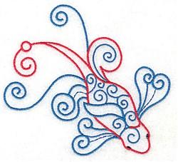 Fancy Koi embroidery design