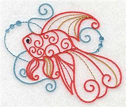 Goldfish Of Swirls embroidery design