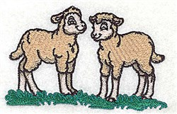 Pair Of Lambs embroidery design