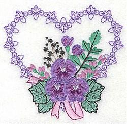 Fleur De Lis Heart embroidery design